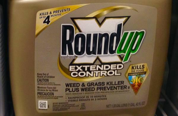 Una scatola di Roundup della Monsanto
