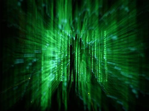 Cascata di codice alla Matrix.