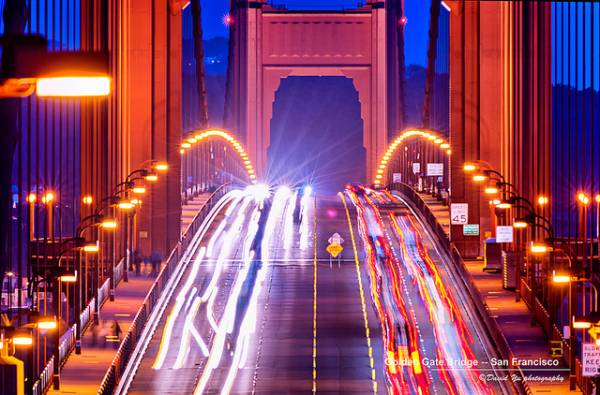 Traffico su un ponte