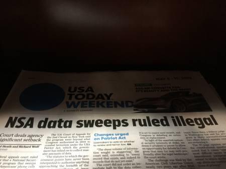La sorveglianza telefonica della NSA è illegale.