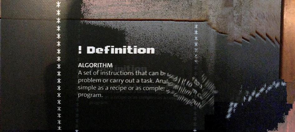 Definizione di algoritmo sfocata